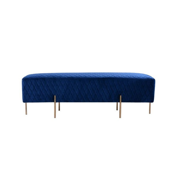 Coco Quilted Ottoman - French Navy | Furniture