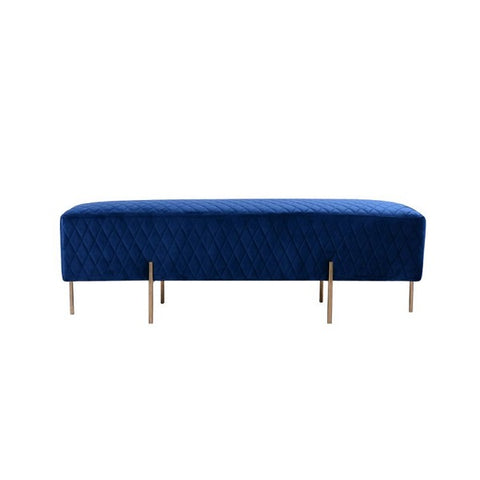Darcy & Duke | Coco Quilted Ottoman - French Navy | Furniture