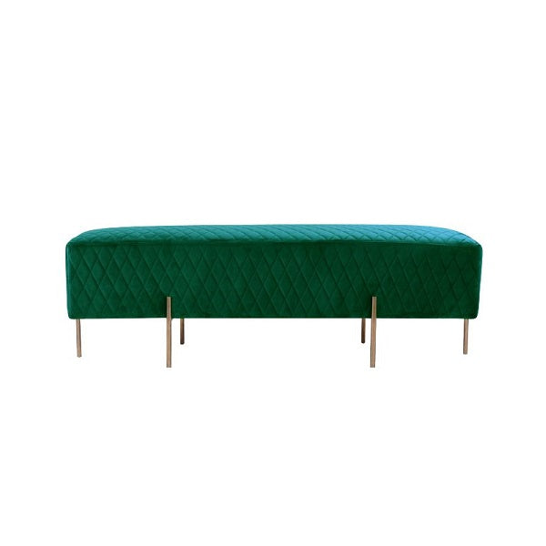 Darcy & Duke | Coco Quilted Ottoman - Ivy Green | Furniture