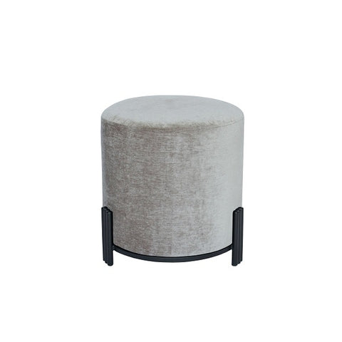 Darcy & Duke | Luca Ottoman Grey Black Base