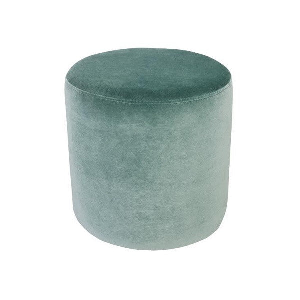 Luxury Velvet Ottoman Small - Aqua | Furniture
