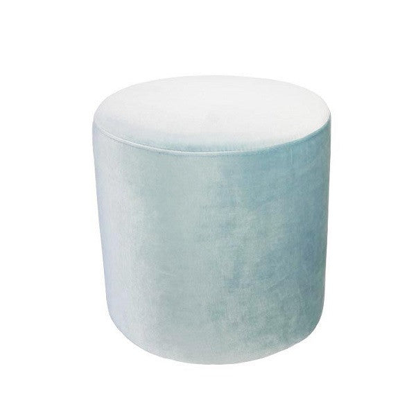 Luxury Velvet Ottoman Small - Ice Blue | Furniture