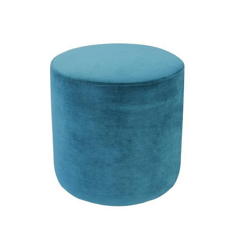 Luxury Velvet Ottoman Small - Peacock | Furniture