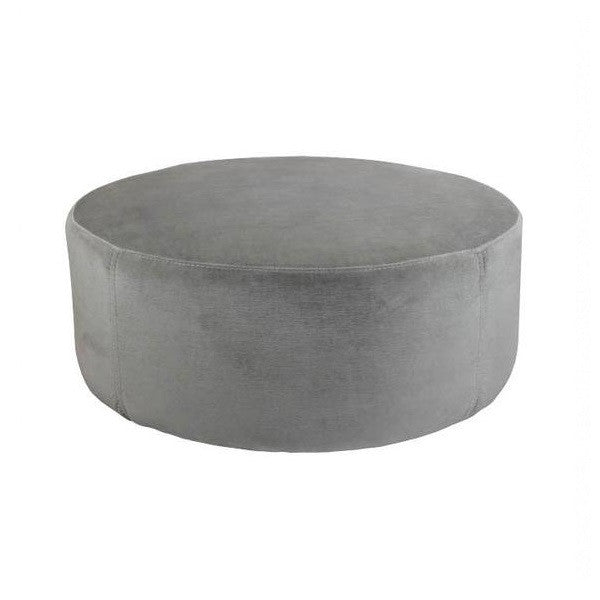 Luxury Velvet Ottoman Large - Christian Grey | Furniture