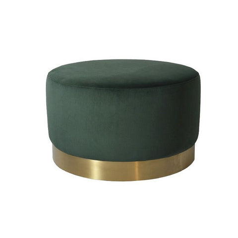 Milan Velvet Ottoman Large - Green | Furniture