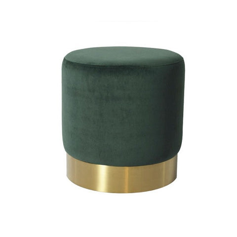Milan Velvet Ottoman Small - Green | Furniture