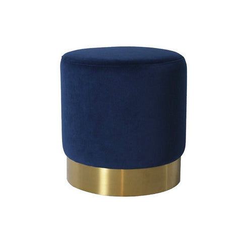 Milan Velvet Ottoman Small - Navy | Furniture