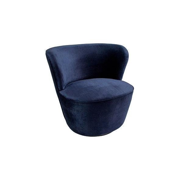 Darcy & Duke | Coco Swivel Chair Vintage Navy | Furniture
