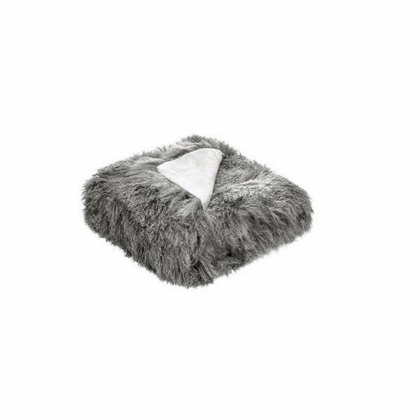 Tibetan Fur Throw Grey