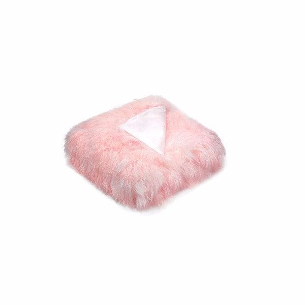 Tibetan Fur Throw Pink