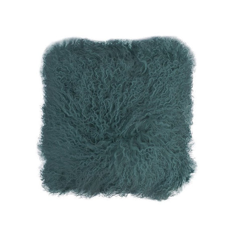 Tibetan Fur - Peacock Cushion