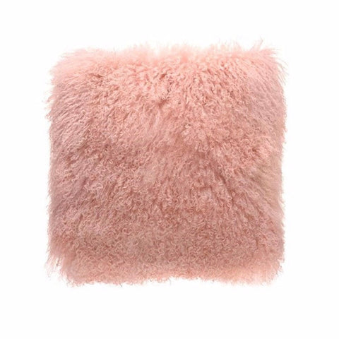 Tibetan Fur - Pink Cushion