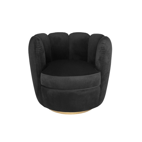 Tulip Swivel Chair - Black | Furniture