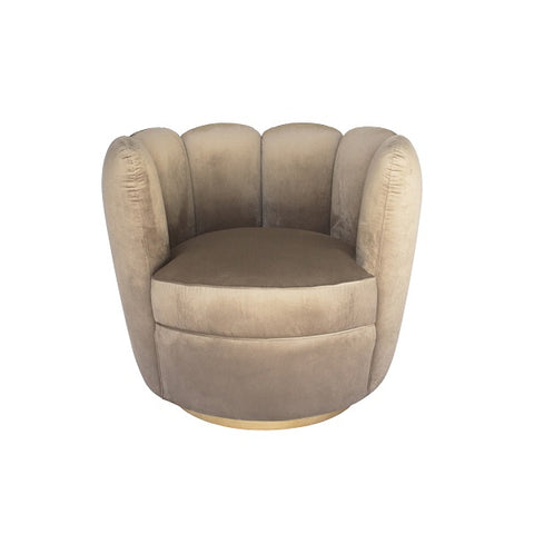 Tulip Swivel Chair - Taupe  | Furniture