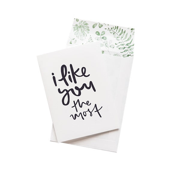 Emma Kate Co | I like you the most | Card