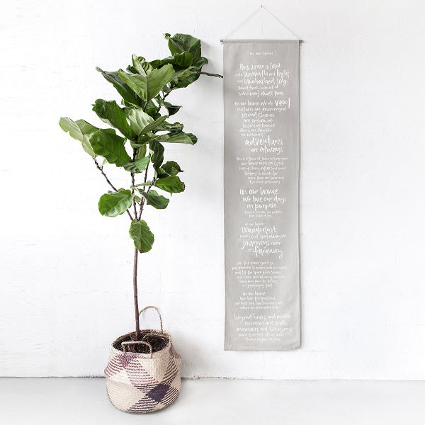 Emma Kate Co | In Our Home Linen Wall Banner