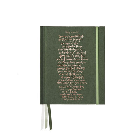 Emma Kate Co | Journal Botanical Green - Things to Remember