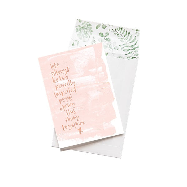 Emma Kate Co | Let's Always Be Two Imperfect People | Card