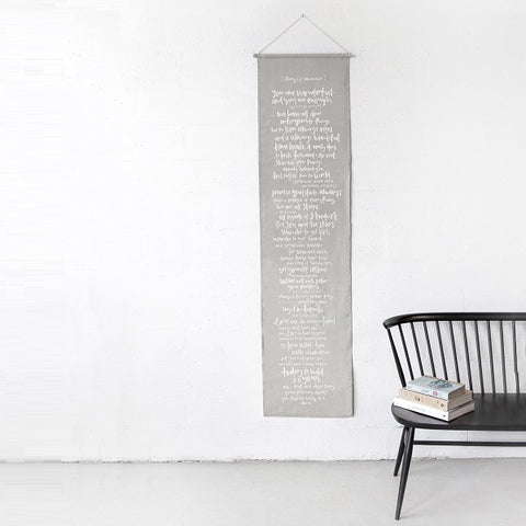 Emma Kate Co | Things To Remember Linen Wall Banner
