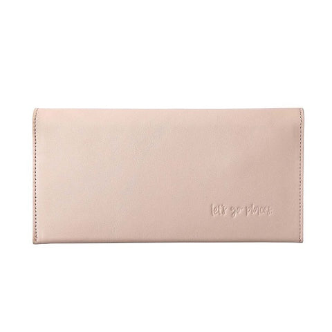 Emma Kate Co | Leather Travel Wallet Clutch Blush
