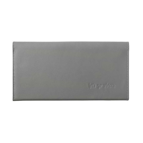 Emma Kate Co | Leather Travel Wallet Clutch Grey