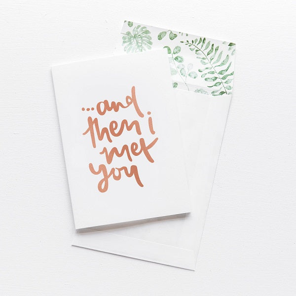 Emma Kate Co | And Then I Met You | Card