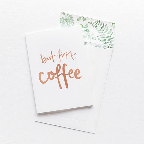 Emma Kate Co | But First, Coffee | Card