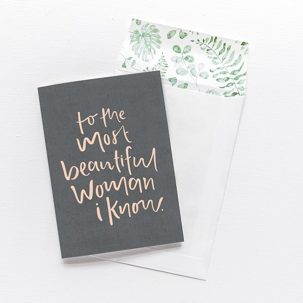 Emma Kate Co | To the most beautiful woman I know | Card