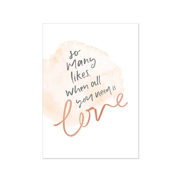 Emma Kate Co | All you need is love | Rose Gold Foiled A4 Print