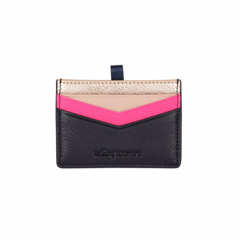 Alexis Card Holder - Rose Gold / Navy
