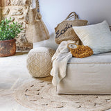 Eadie Lifestyle | Artisan Cushion White Square