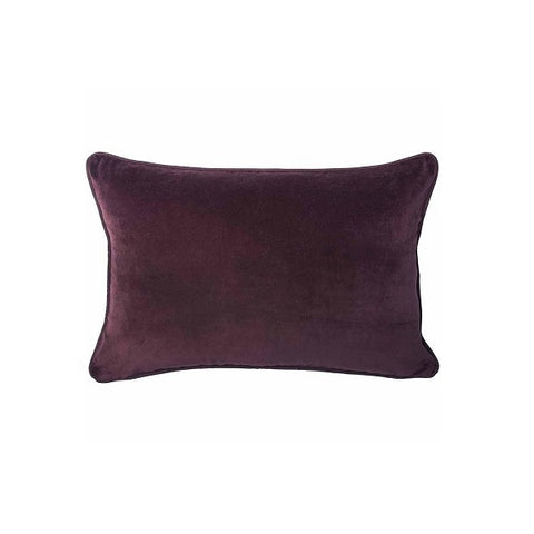 Eadie Lifestyle | Lynette Velvet Burgundy Cushion Rectangular
