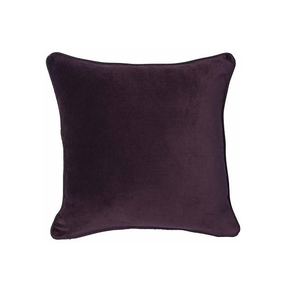 Eadie Lifestyle | Lynette Velvet Burgundy Cushion Square