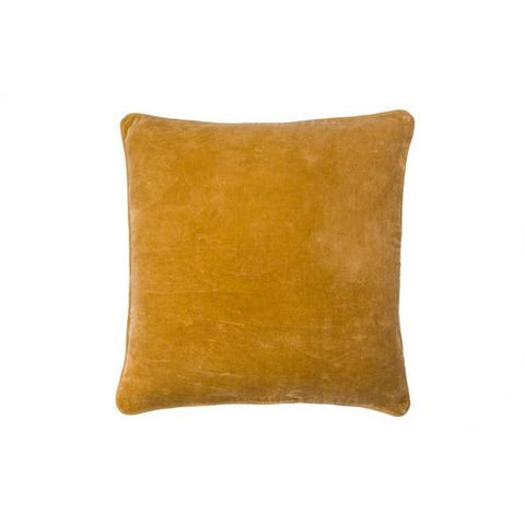 Eadie Lifestyle | Lynette Velvet Mustard Square Medium | Cushion