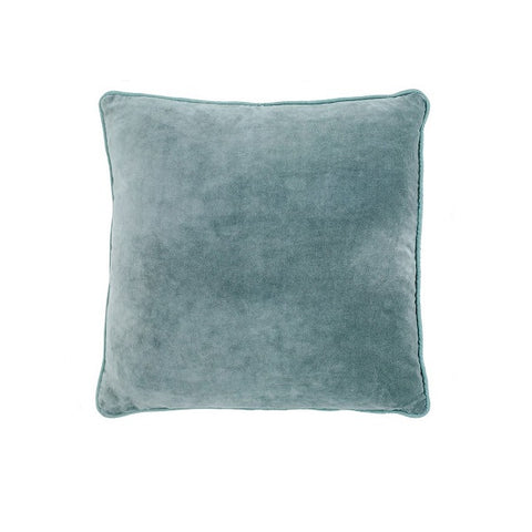 Eadie Lifestyle | Lynette Velvet Sea Mist Cushion Square