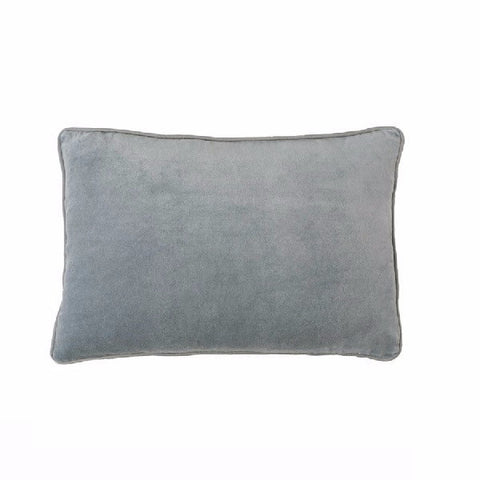 Eadie Lifestyle | Lynette Velvet Silver Grey Cushion Rectangular