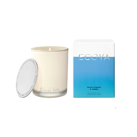 Ecoya | Blue Cypress & Amber | Candle