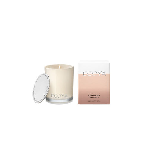 Ecoya | Cedarwood & Leather | Candle Mini