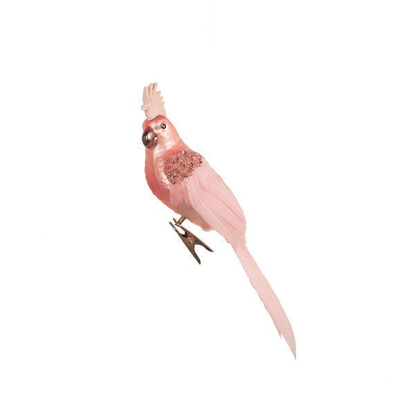 Ornament | Bird Cockatoo Pink 20cm | Christmas