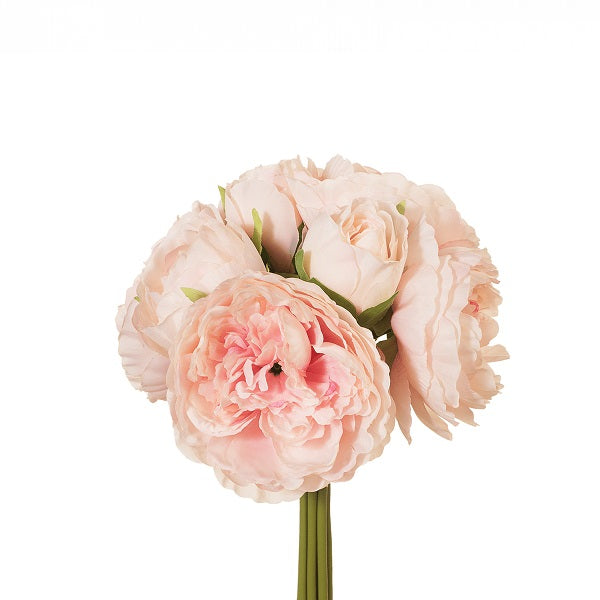 Floral | Peony Bouquet Light Pink 28cmL