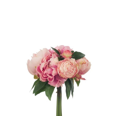 Floral | Peony Bouquet Pink 30cmL