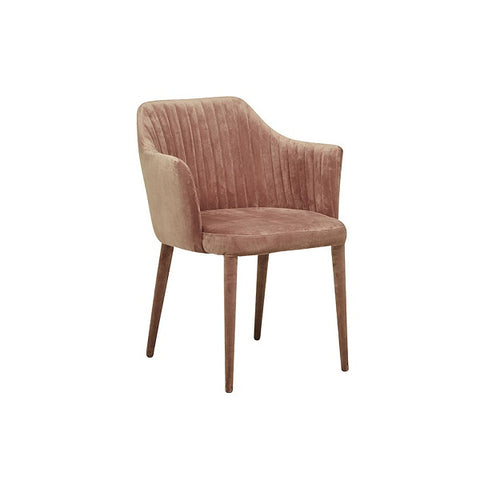 Globe West | Carter Armchair Velvet Dust Berry | Furniture