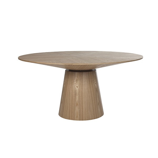 Globewest | Classique Round Dining Table Natural Ash Various Sizes | Furniture
