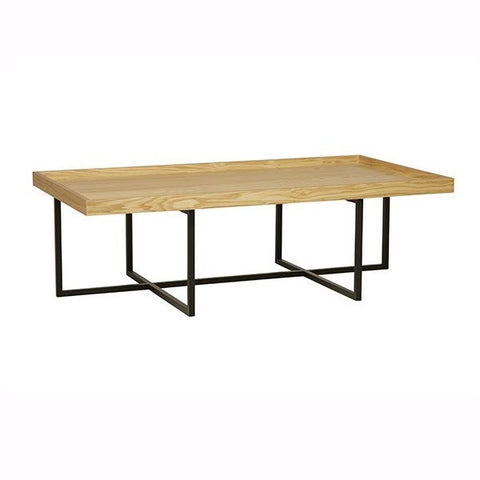Globe West | Tivoli Rectangular Coffee Table NATBK | Furniture