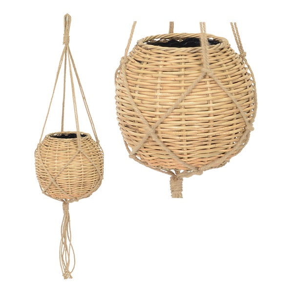 Nala Hanging Rattan Planter Basket Large | Decor