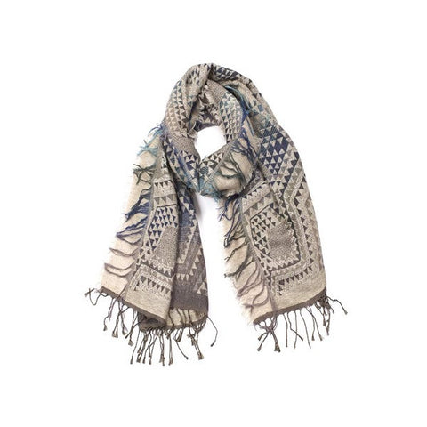 Indus Design | Scarf Jacquard Blueberry Mix