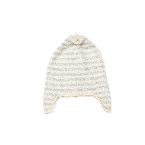 Indus Design | Beanie Ear Flap Natural + Light Grey