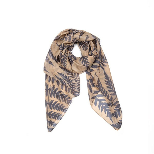 Indus Design | Silk Fern Scarf Almond