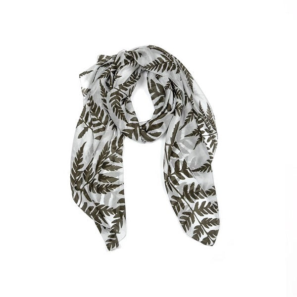 Indus Design | Silk Fern Scarf Grey