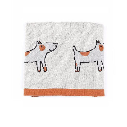 Indus Design | Jack The Dog Baby Blanket